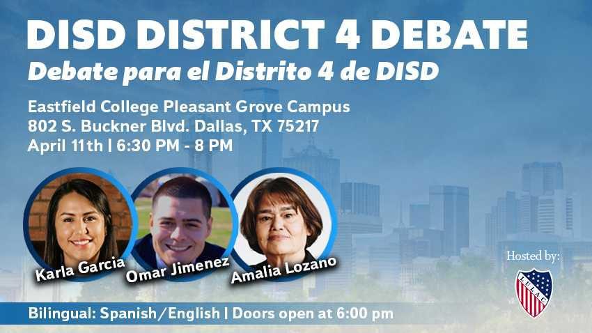 El debate bilingüe será este jueves 11 de abril. Foto: Evento de Facebook.