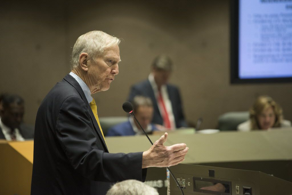 Walt Humann, CEO of the Fair Park Texas Foundation,  addressed the Dallas City Council during a briefing on the management contract Monday.