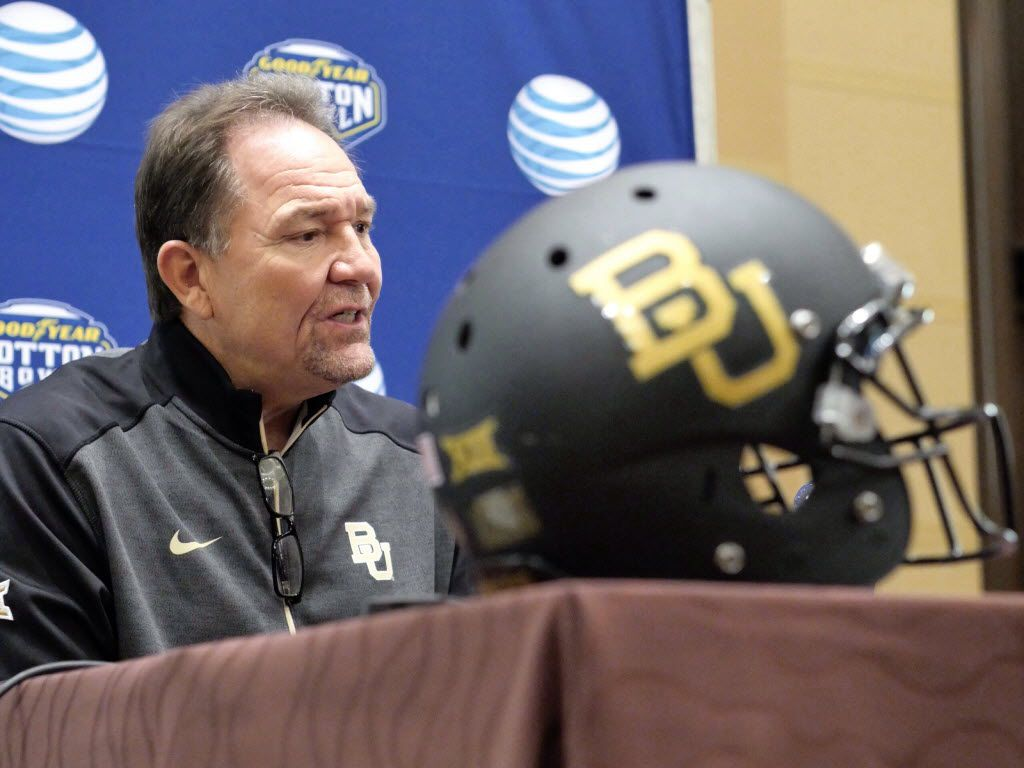 Baylor defensive coach Phil Bennett talks to the media during the university's media session at the Omni in Dallas Monday December 29, 2014. Baylor is playing Michigan State in the Goodyear Cotton Bowl.       (Ron Baselice/The Dallas Morning News)
