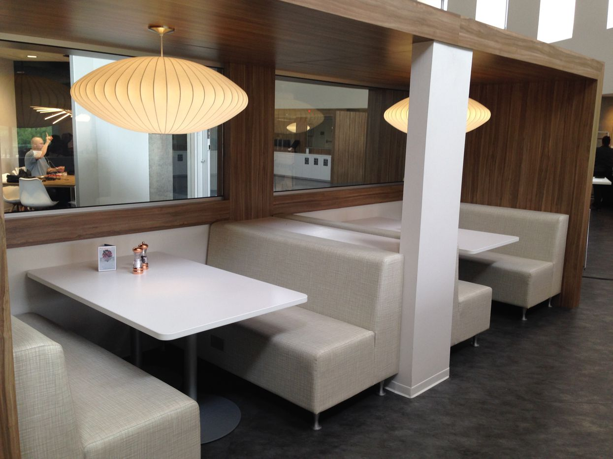 One of the dining areas in RealPage's Richardson headquarters.
