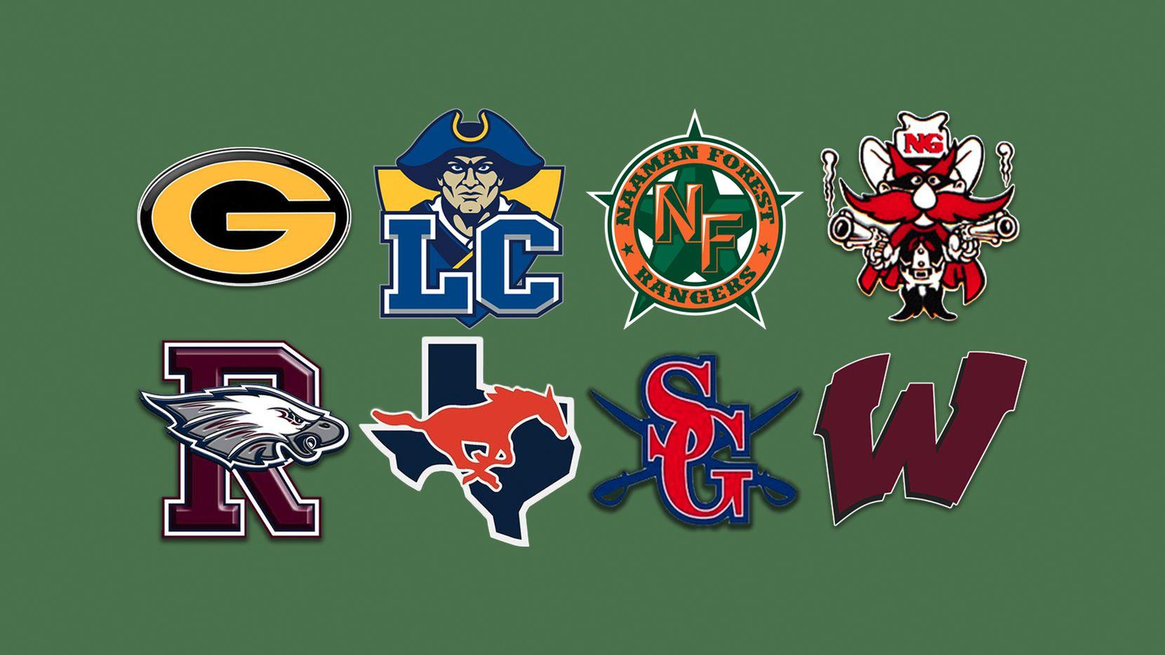 District 9-6A football teams.