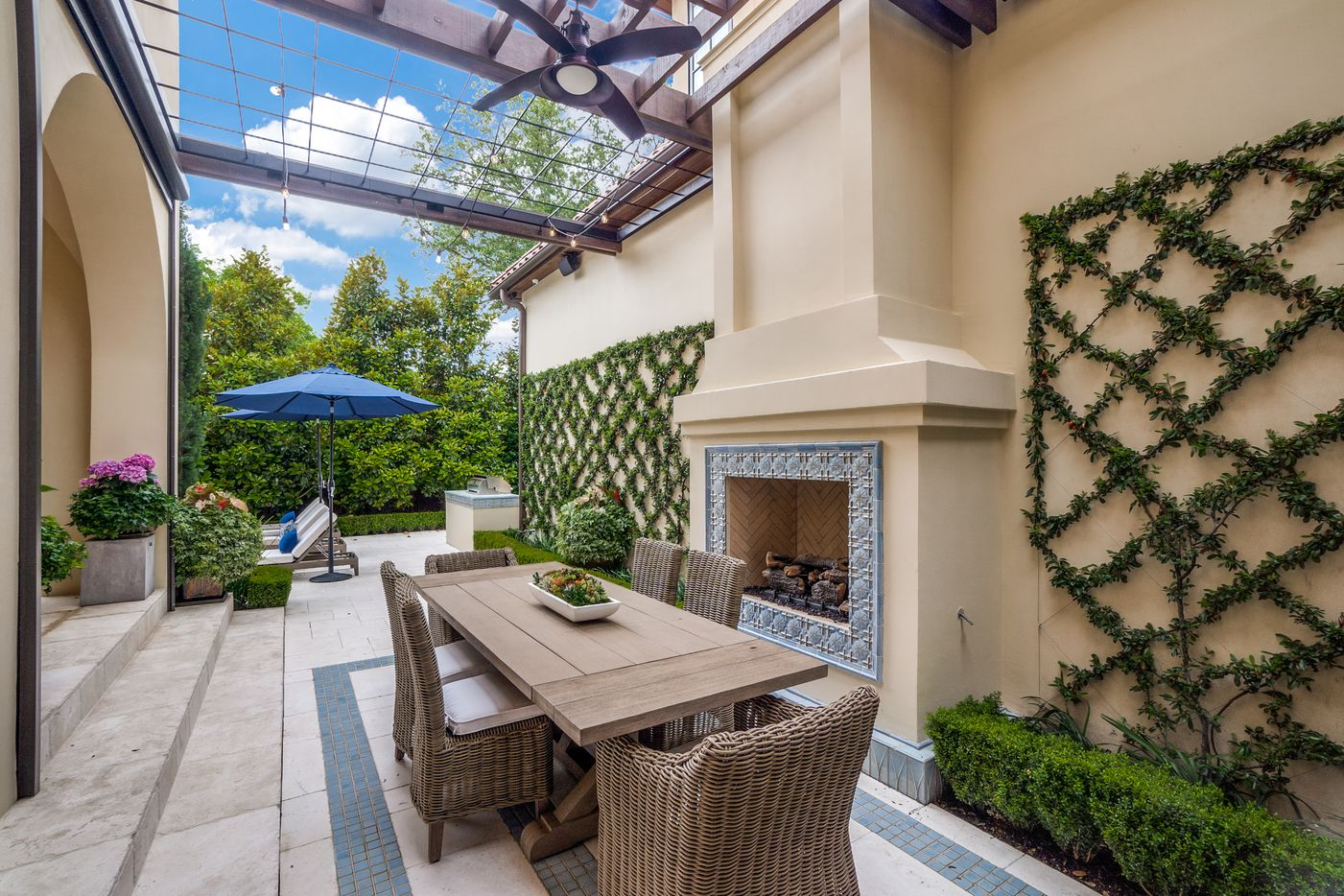 Patio at 3608 Beverly Drive.