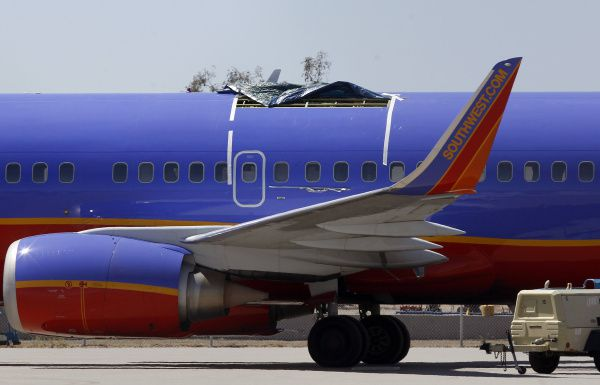 On April 1, a 5-foot-long hole caused this Southwest jet to lose cabin pressure and make an emergency landing in Yuma, Ariz. Preliminary findings suggested flaws in the riveting work.