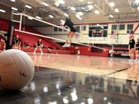 during Lovejoy volleyball practice, Tuesday, August 3, 2021, in Lovejoy, Texas. (Matt Strasen/Special Contributor)