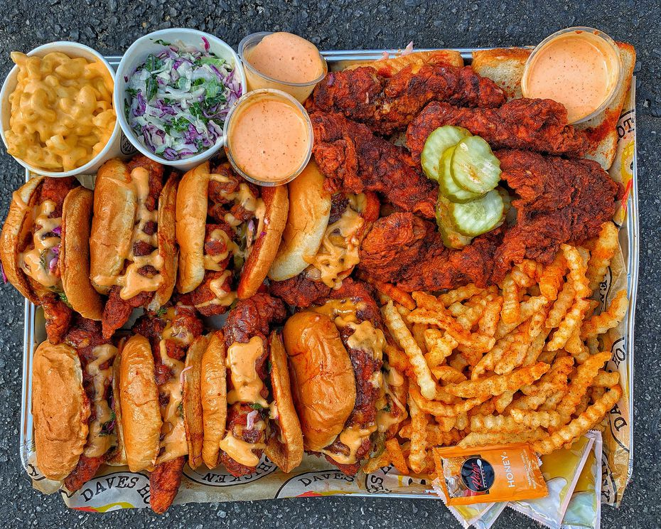 You'd better be sharing if you're ordering this much Dave's Hot Chicken.