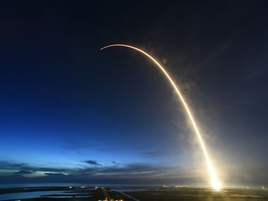 SpaceX is seeking permission to operate as many as 30,000 satellites. (Red Huber/Orlando Sentinel/TNS)