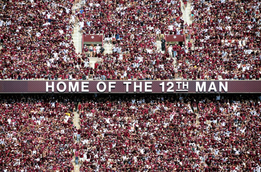 Pictured above: A look at the fans in the stands during the University of Florida Gators vs. the Texas A&M Aggies NCAA college football game at Kyle Field in College Station on Saturday, September 8, 2012. (Louis DeLuca/The Dallas Morning News)