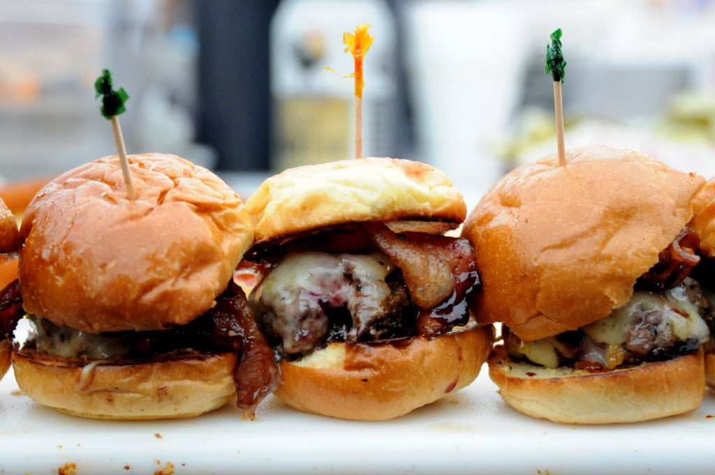 The Whiskey burger from Rodeo Goat was served at a food festival in Dallas-Fort Worth a few years back.