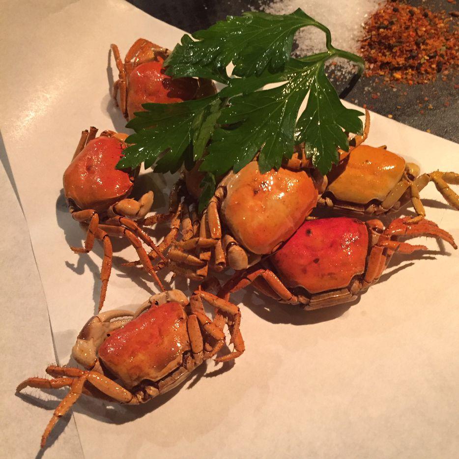 Sawagani -- fried river crabs -- at Tei Tei
