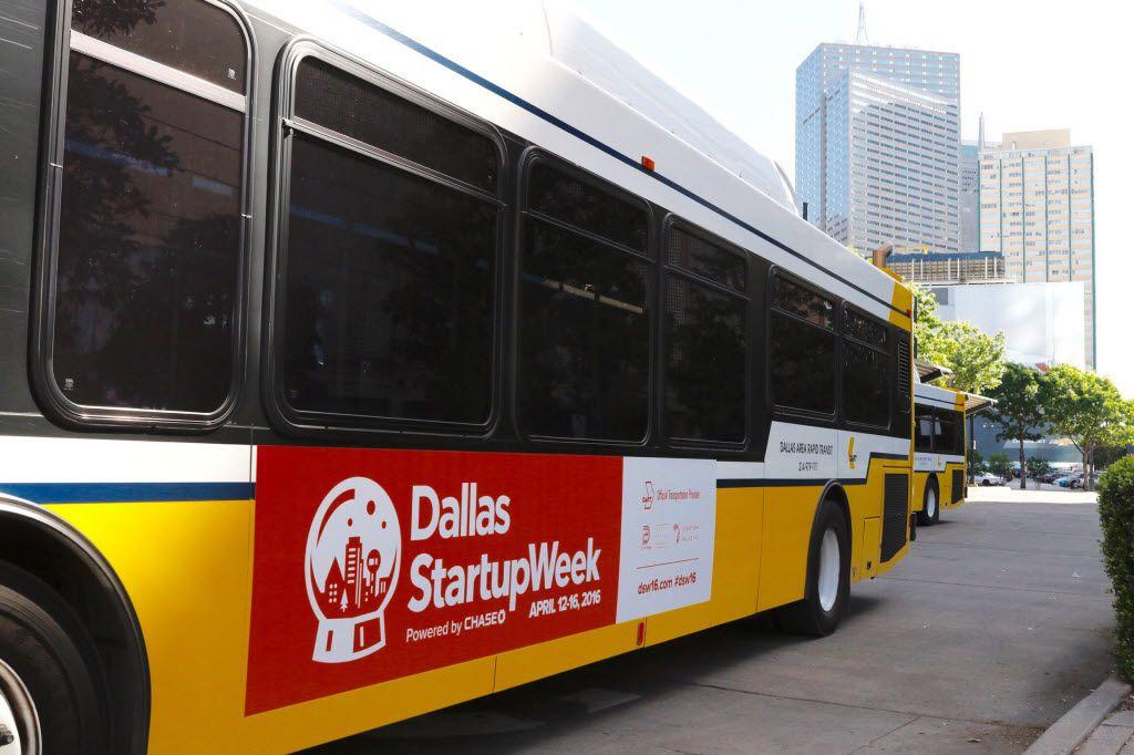 A DART bus in Dallas, April 8, 2016. (David Woo/The Dallas Morning News)