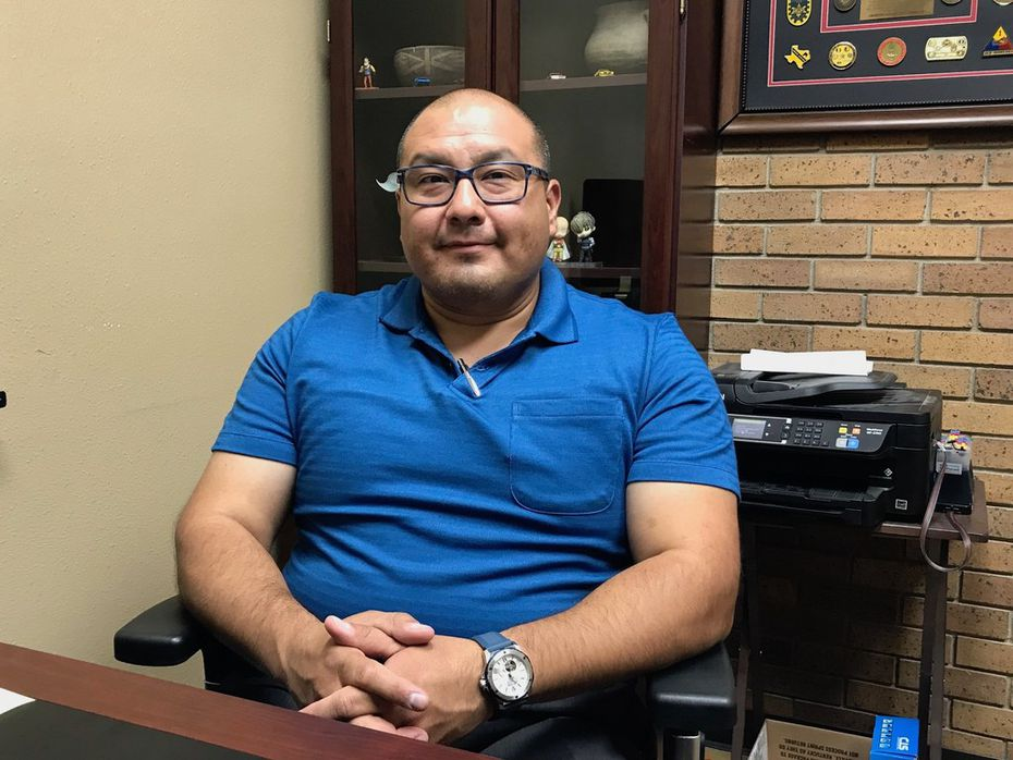 Carlos Favela, executive vice president of National Border Patrol Council Local 1929 and seen here July 12 in El Paso, says Border Patrol agents must sound the alarm about conditions faced by agents and migrants.