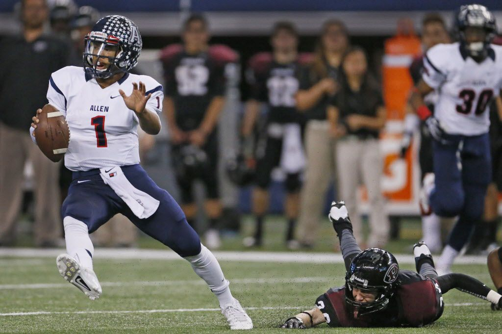 Former Allen quarterback Kyler Murray led Allen to three straight state championships after he transferred from Lewisville.