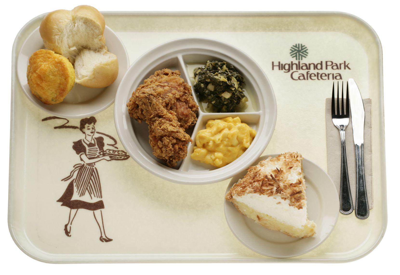 Highland Park Cafeteria tray
