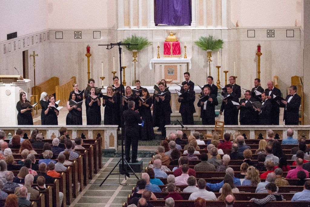The Orpheus Chamber Singers perform at Saint Thomas Aquinas Catholic Church on April 8, 2017 in Dallas, Texas (Robert W. Hart/Special Contributor)