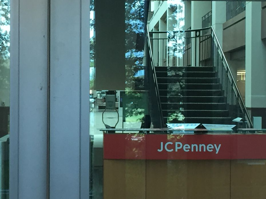 The north entrance from the visitor parking lot at the J.C. Penney headquarters at 6501 Legacy Drive in Plano.