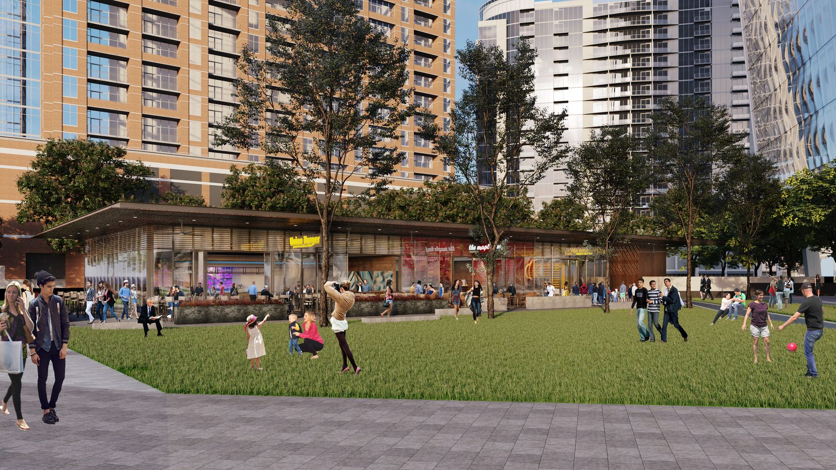 The 23Springs project includes a half acre park.