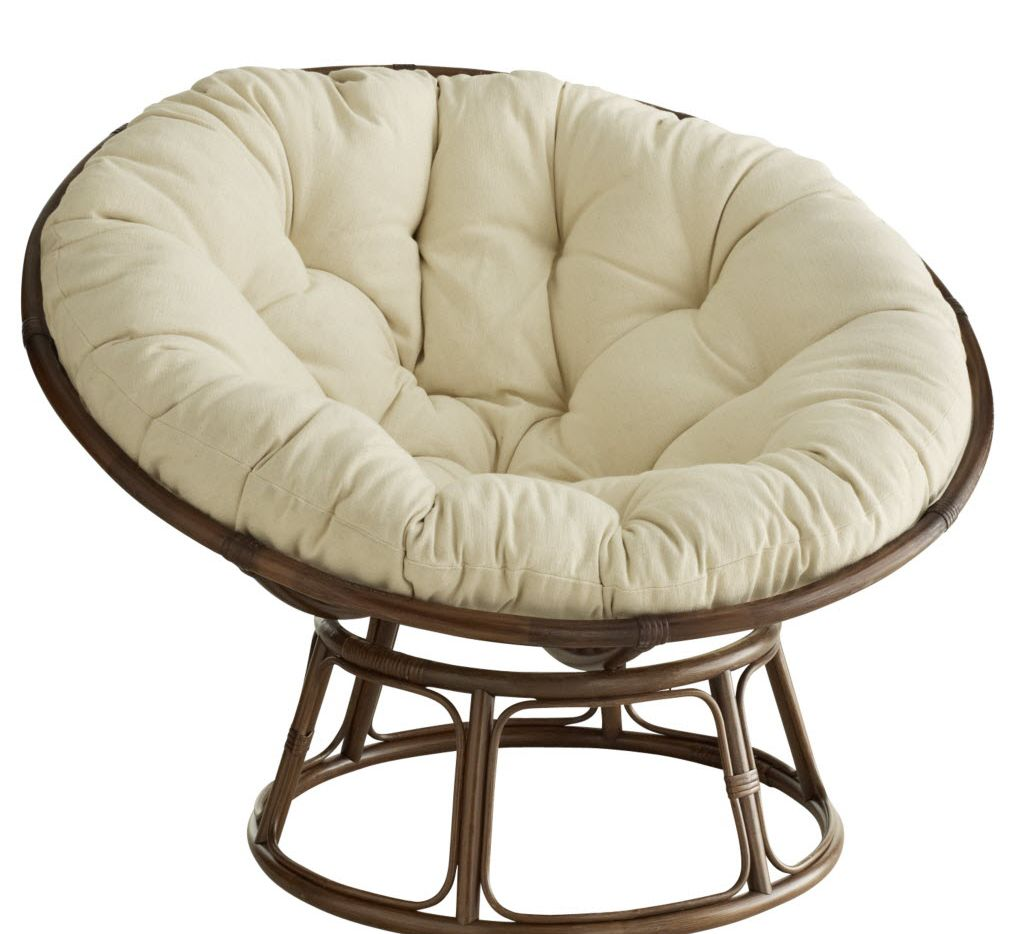 Handcrafted of natural rattan, the legendary Papasan chair is a Pier 1 mainstay.