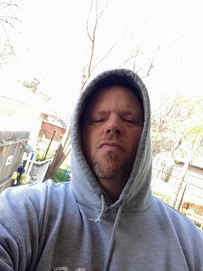 """Mesquite Council member Bruce Archer posted a photo of himself in a hoodie March 11, side-by-side with a """"Straight Outta Mesquite"""" logo (next frame)."""