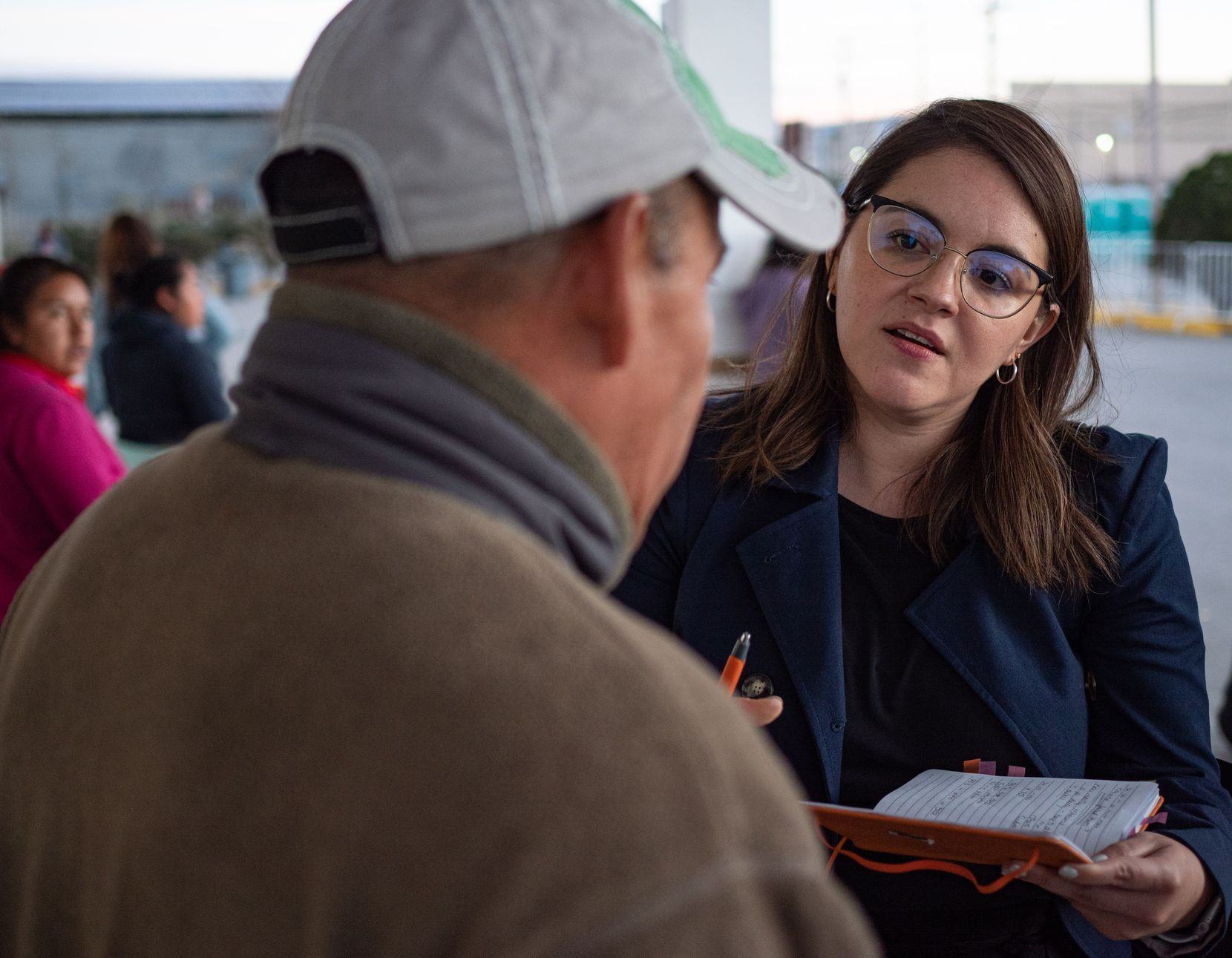 """In February, Edith Tapia of the Hope Border Institute, a policy research nonprofit, helped coordinate migrants with shelters and attorneys in Cd. Juarez, Chihuahua. This was before """"social distancing"""" became the norm in the fight against the coronavirus."""