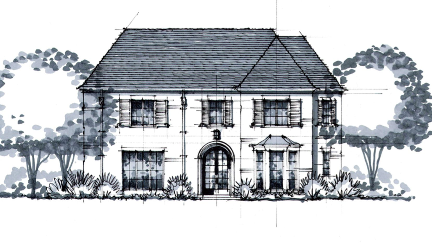 This is an artist's rendering of the home at 3829 Hanover. Built by LRO Residential, it is available for buyer customization and priced at $3,847,000.