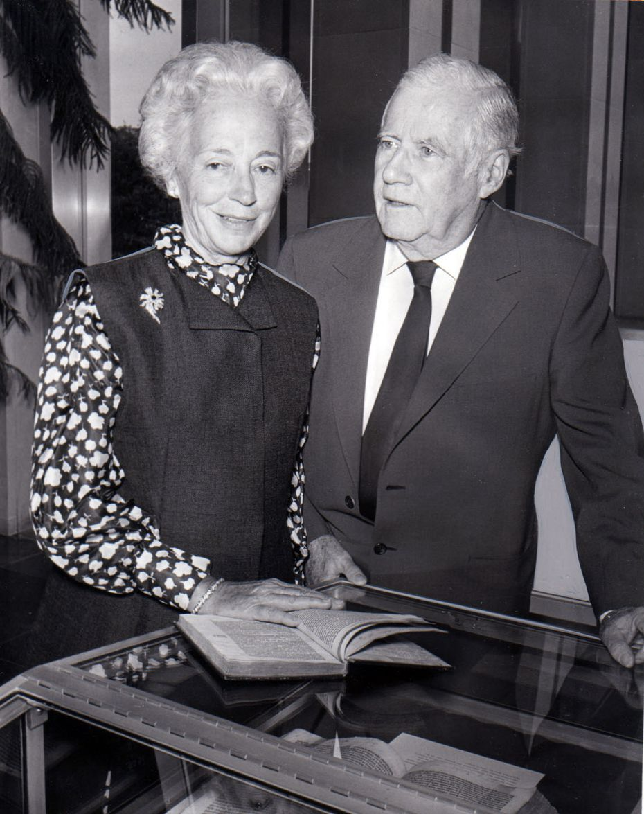 Margaret and Eugene McDermott presented a copy of Erasmus' Praise of Folie to the Southern Methodist University libraries in 1971. It was one of only 10 remaining copies in the world.