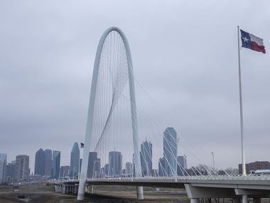 Cold, gray skies hung over the Dallas skyline in advance of what's expected to be a major winter storm this weekend.