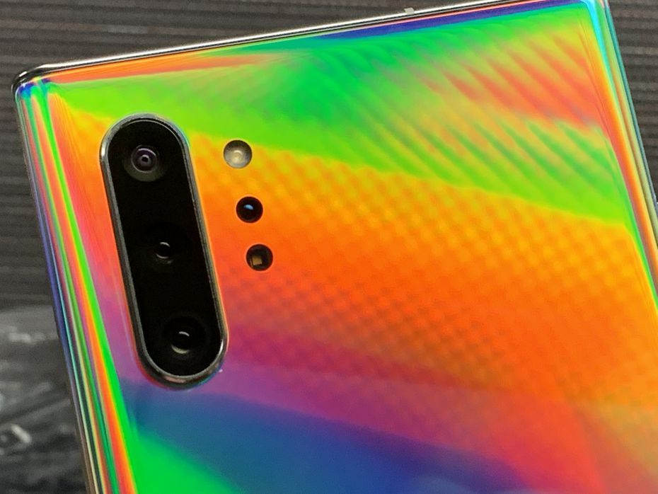 The rear cameras on the Samsung Galaxy Note 10+.