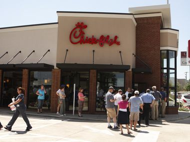 The new Chick-fil-A restaurant near Richardson is serving drive-through and mobile customers.