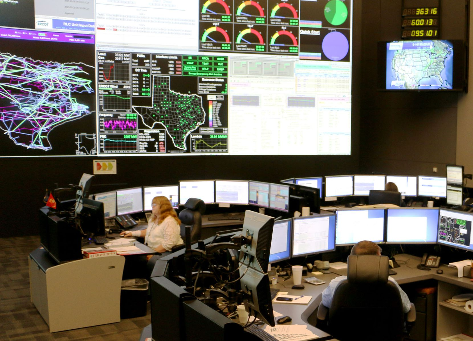 An ERCOT control room.
