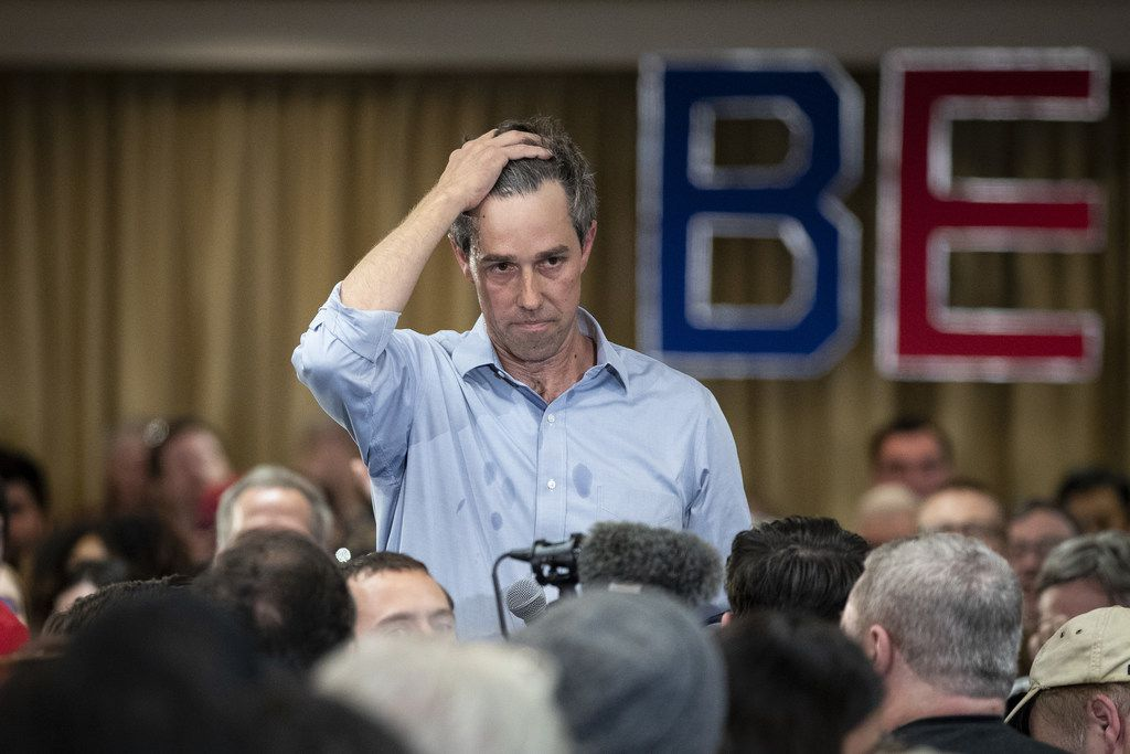 2020 Democratic presidential hopeful Beto O'Rourke listens to a question during a town hall event on April 17, 2019 in Alexandria, Va..