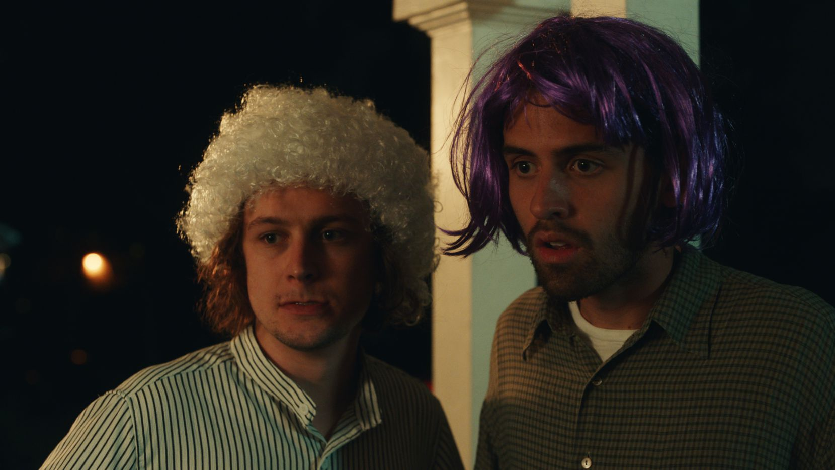 """Logan Miller (left) and Cooper Raiff star in """"S---house."""" The film's soundtrack features a number of local artists."""