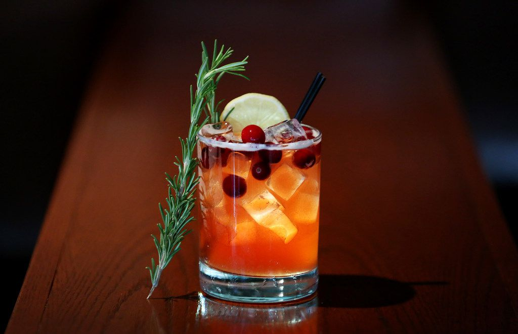 Cranberry Hibiscus Holiday Mocktail