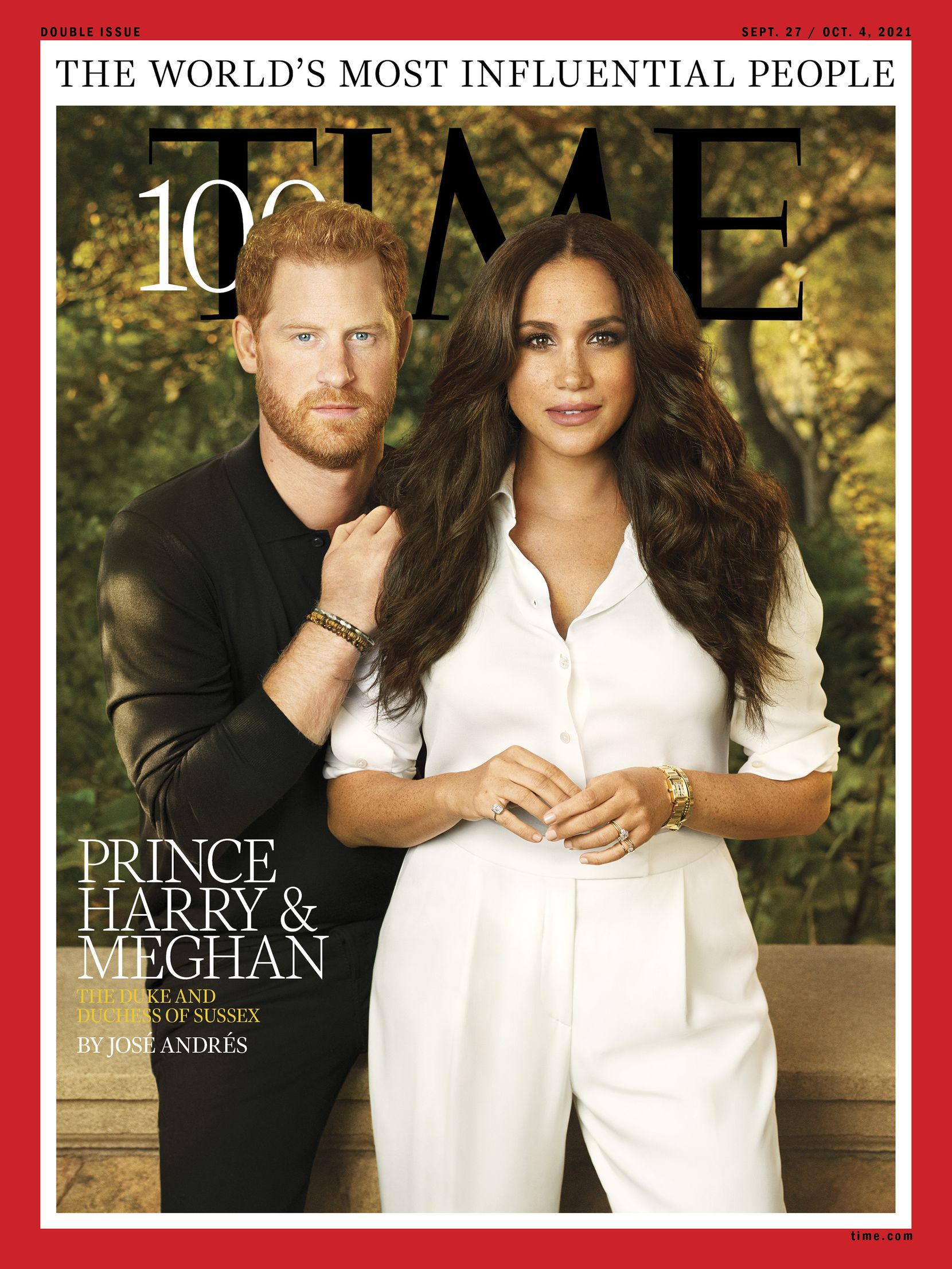 Prince Harry is wearing Kendra Scott's new Scott & Co. men's bracelets on this Time magazine cover dated Sept. 27.