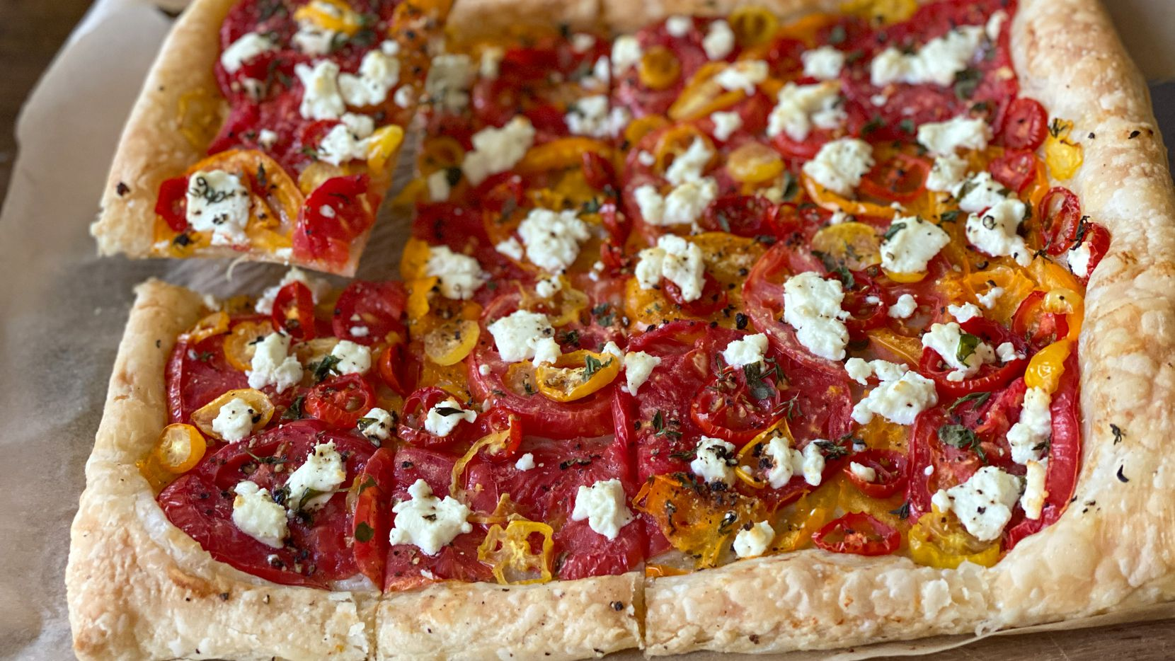 Tomato Tart with Goat Cheese and Thyme