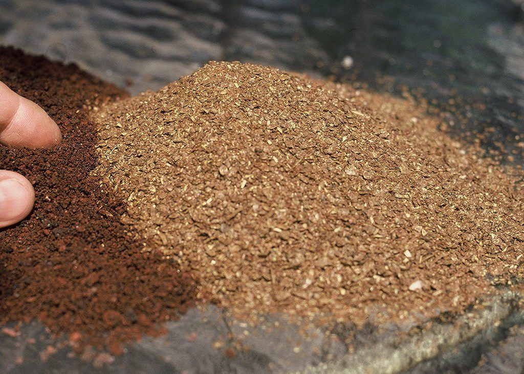 Lava sand and dry molasses are two of the important soil amendments of the Sick Tree Treatment.