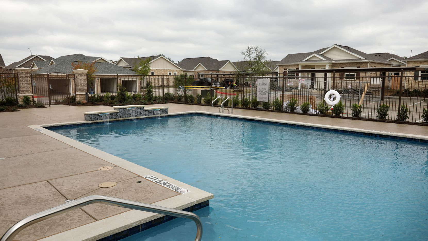 The community pool at the Avilla Premier home community in McKinney, which opened in 2018.