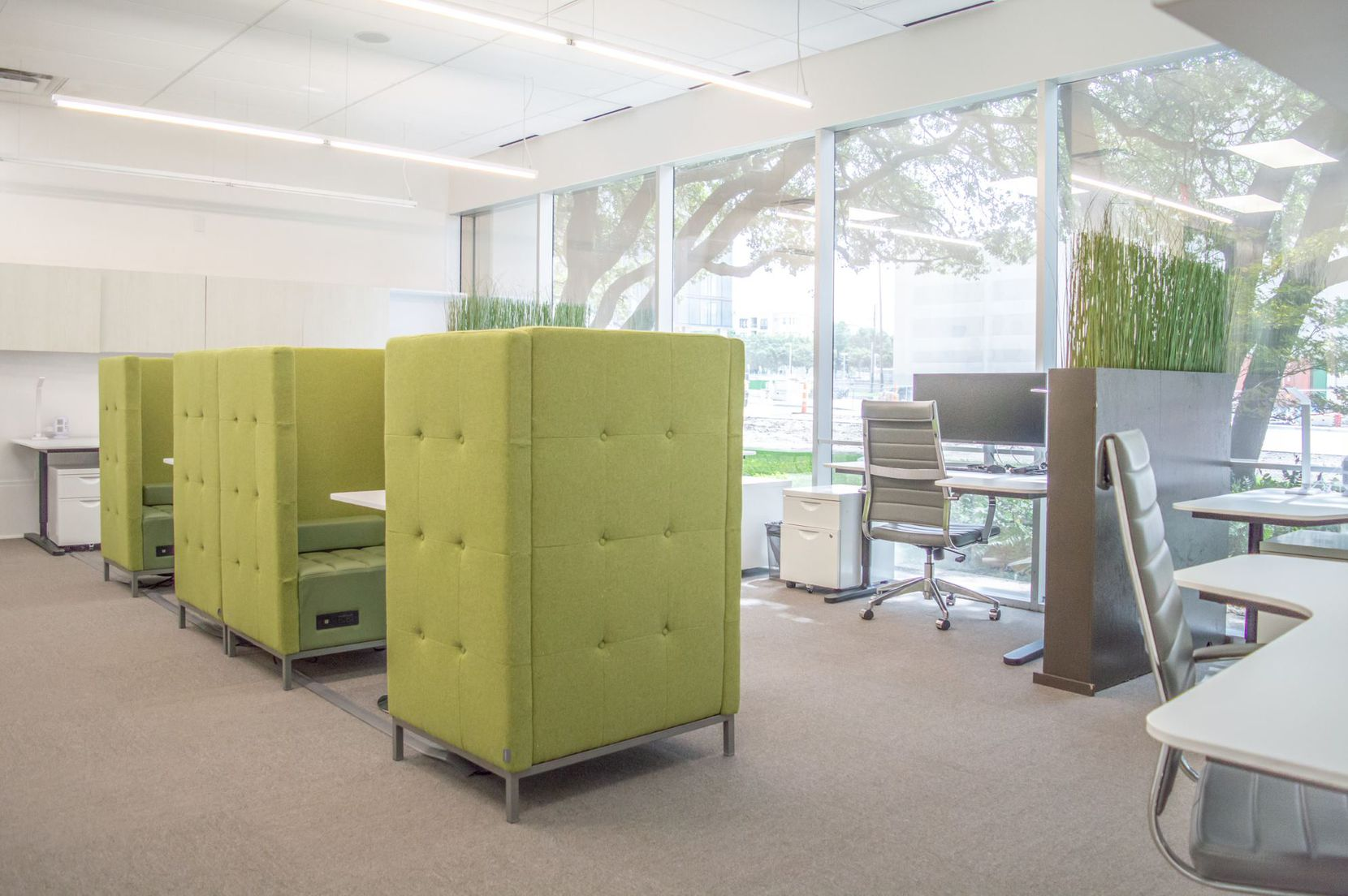 WorkSuites' new North Dallas location has more socially distanced work areas.