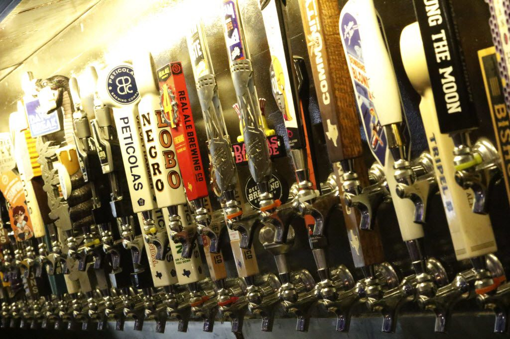 BFF Asian Grill and Sports Bar has a large selection of beer in Arlington, Texas on Thursday, Oct. 8, 2015.