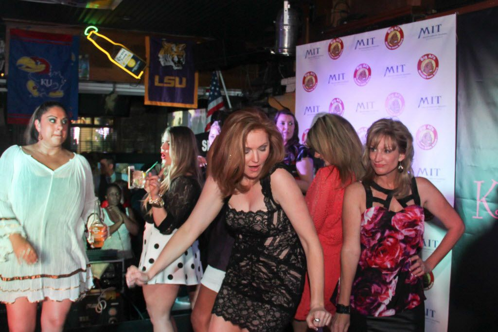 Kellie Rasberry danced with friends at her birthday bash.