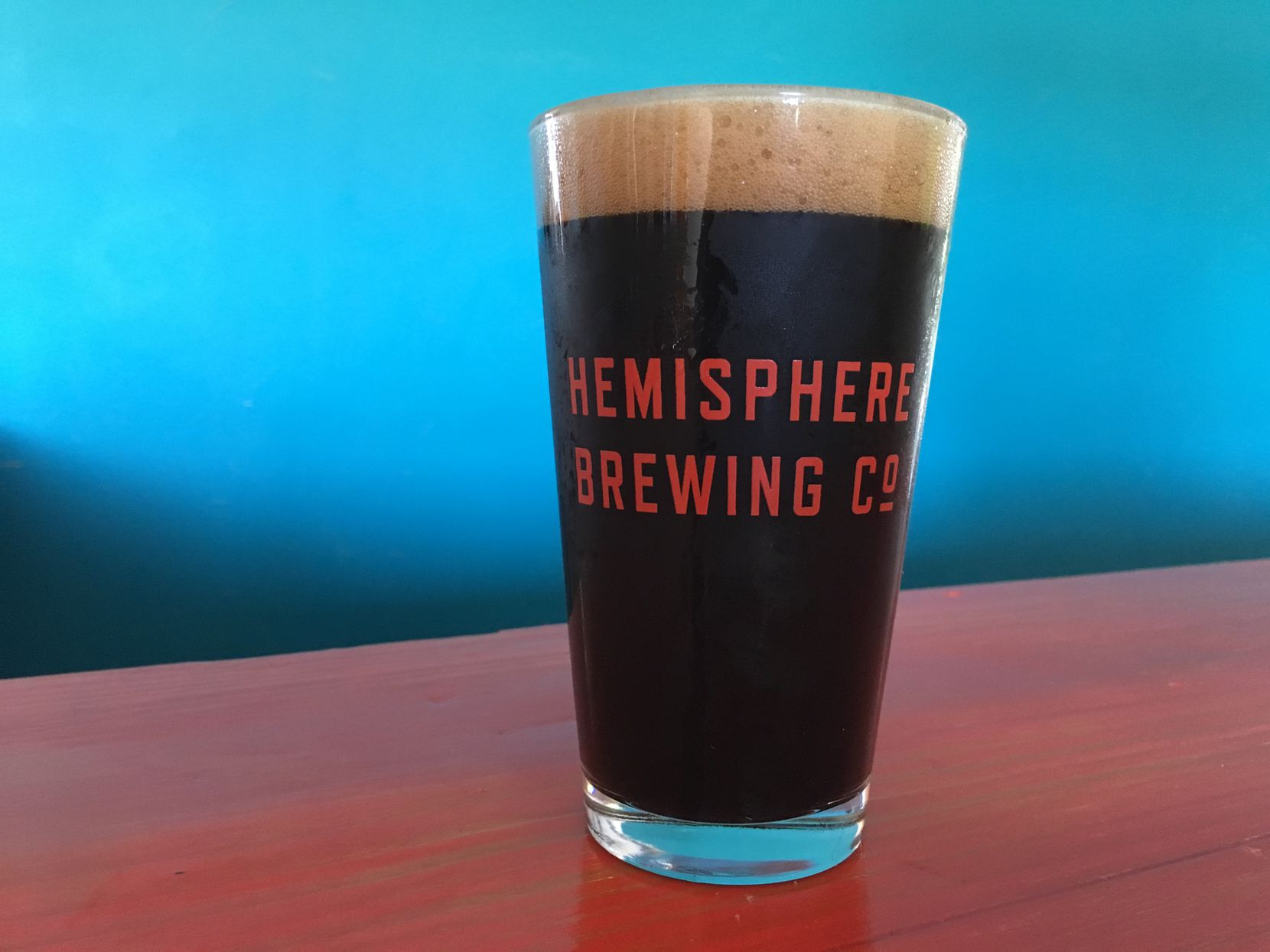 Hemisphere Brewing Co.'s Super Fleek (pictured) is a coffee porter.