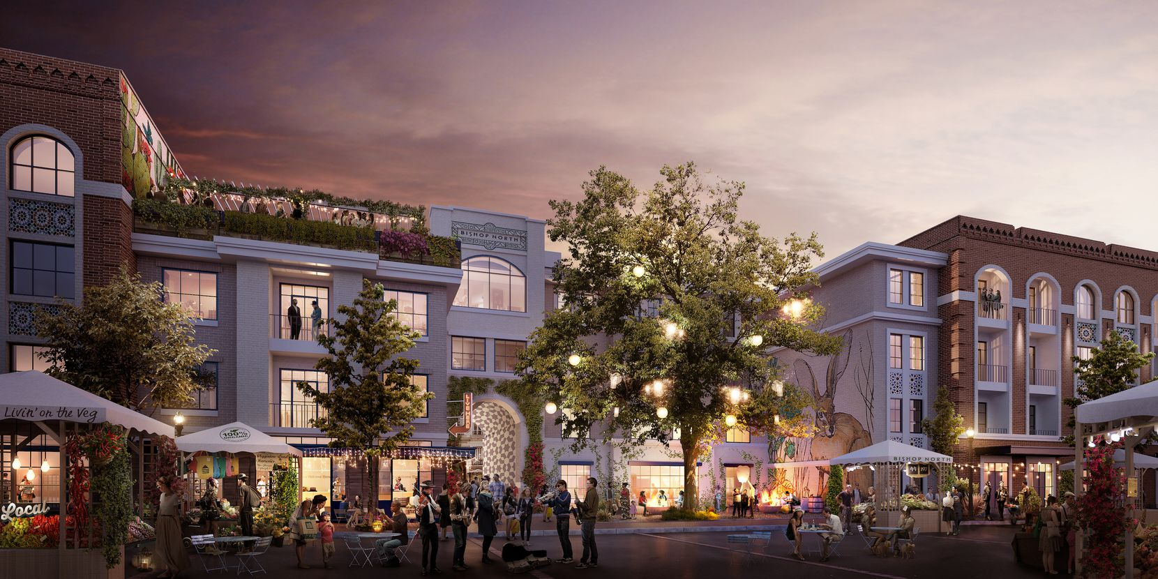 The next phase of the  Bishop Arts project will include apartments, retail and public space.