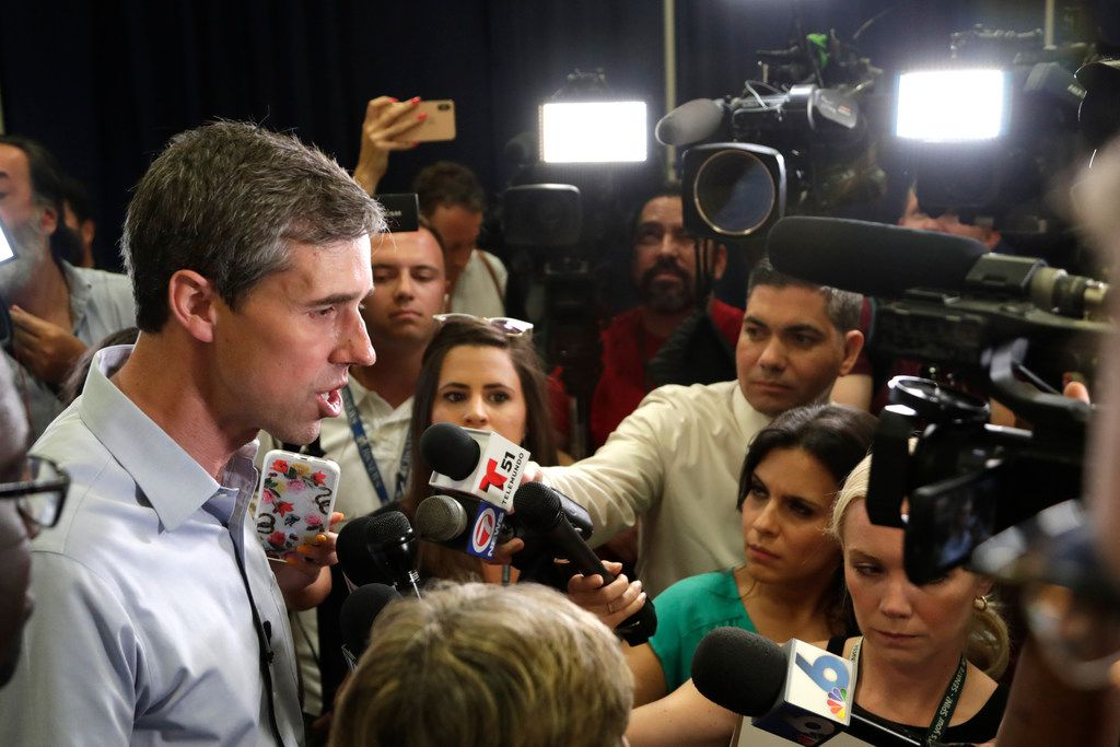 Democratic presidential candidate Beto O'Rourke was interviewed after an American Federation of Teachers town hall Tuesday in North Miami, Fla.