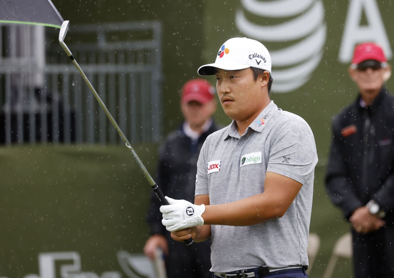 Kyoung-Hoon Lee prepares to tee off on the 17th hole during round 4 of the AT&T Byron Nelson  at TPC Craig Ranch on Saturday, May 16, 2021 in McKinney, Texas. (Vernon Bryant/The Dallas Morning News)