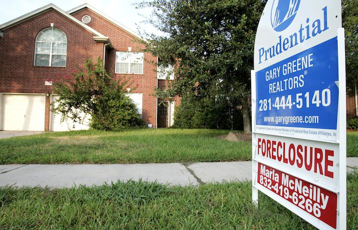 While mortgage delinquency rates are soaring, so far foreclosures remain low.