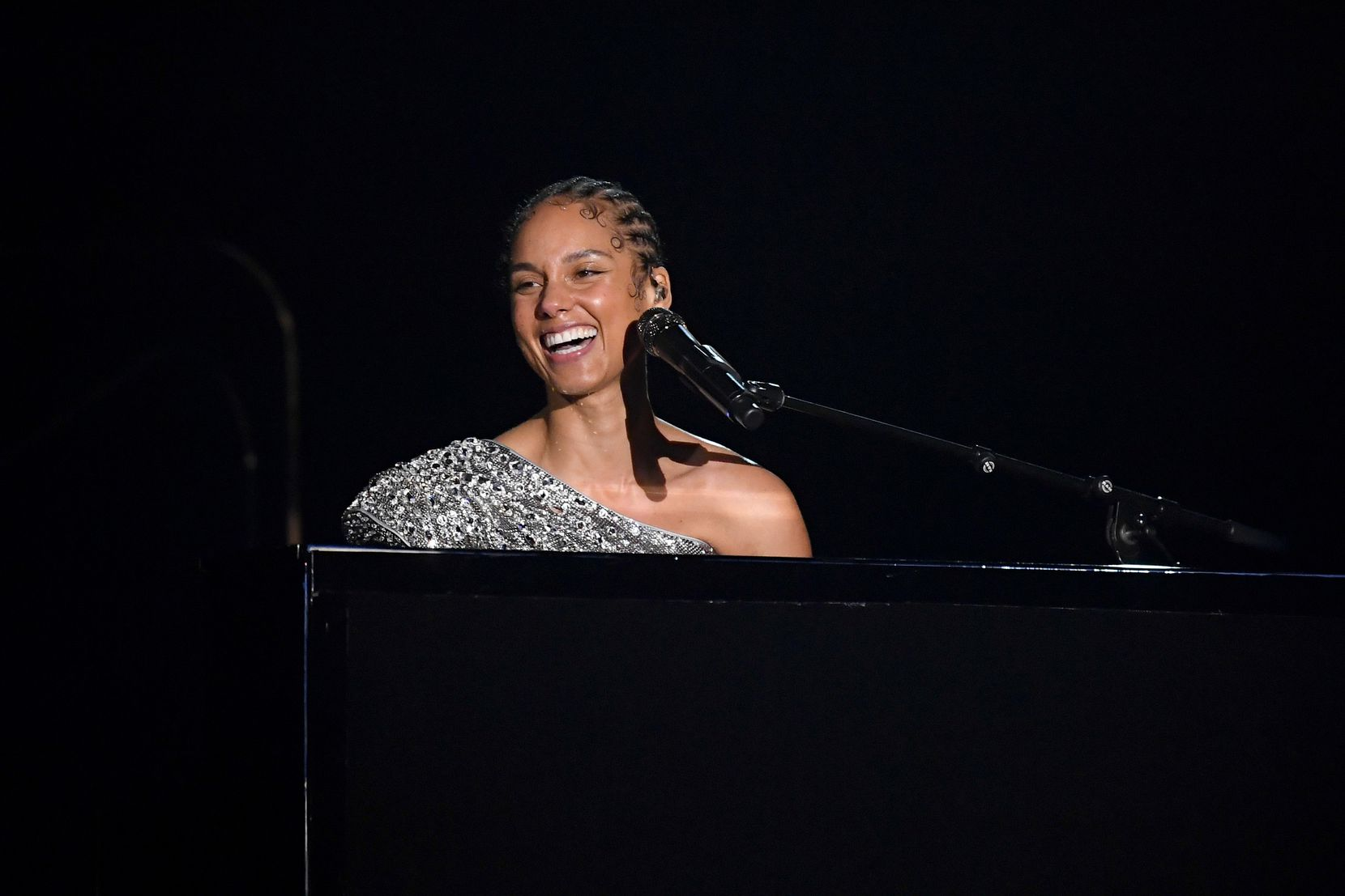 Alicia Keys performed onstage during the 62nd annual Grammy Awards on Jan. 26 at the Staples Center in Los Angeles.