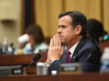 Rep. John Ratcliffe, R-Heath, listens as former Special Counsel Robert Mueller testifies on  July 24, 2019.