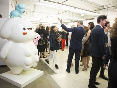In happier times: Dallas Art Fair Preview Benefit took place at Fashion Industry Gallery in Dallas, Texas, on Thursday, April 12, 2018.