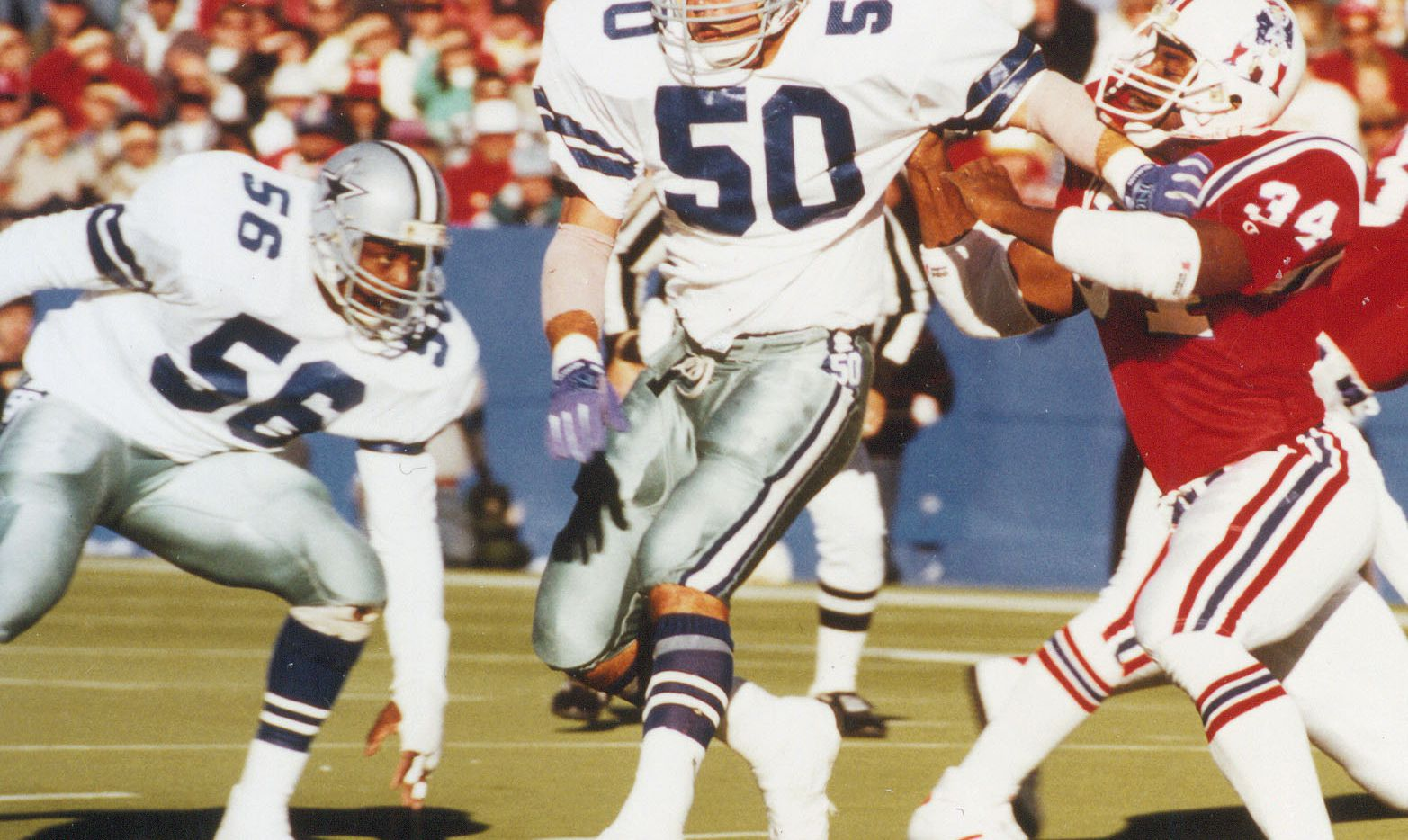 Jeff Rohrer (50) was a linebacker for the Dallas Cowboys from 1982-87.