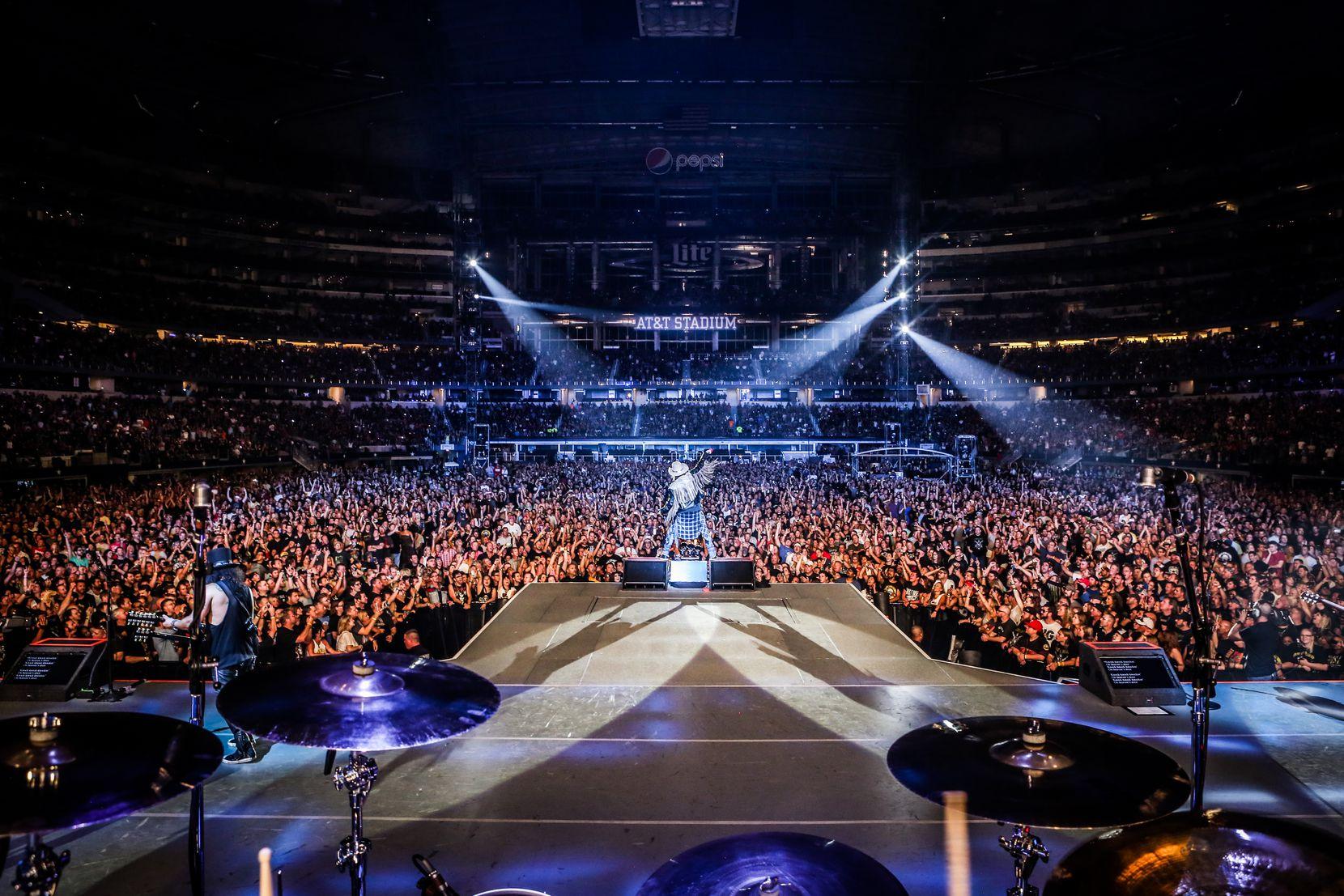 Guns N' Roses performed at AT&T Stadium in Arlington on Aug. 3, 2016.