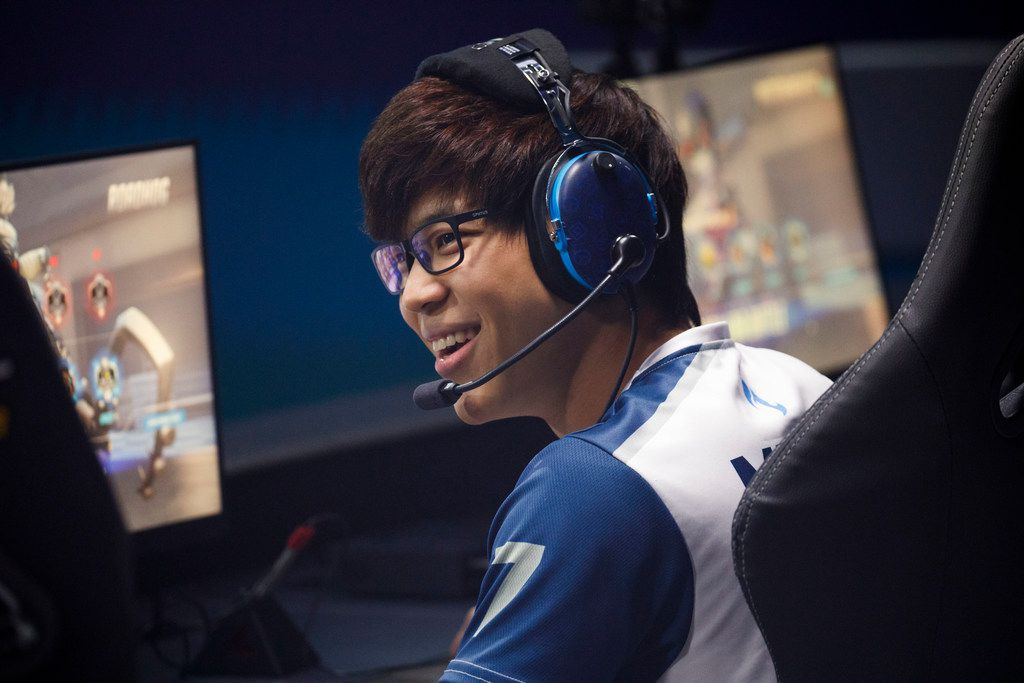 Mickie is nearly always sporting a smile between maps -- win or lose.